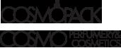 cosmopack logo e cosmo perfumery e cosmetics