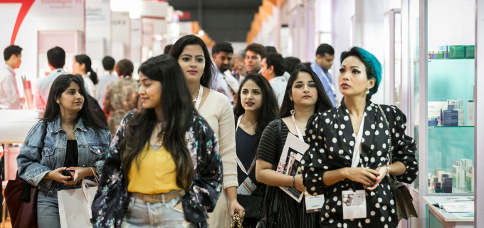 237 exhibitors and 7,429 professionals attended Cosmoprof India Mumbai 2019